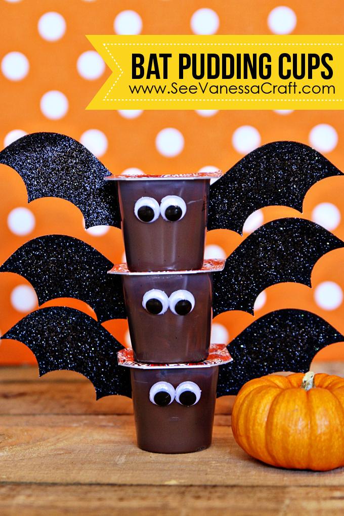 Bat-Pudding-Cups