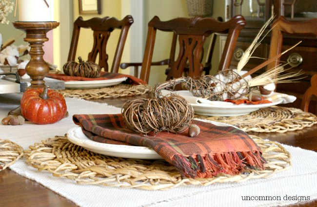 Thanksgiving Holiday Table via Uncommon Designs