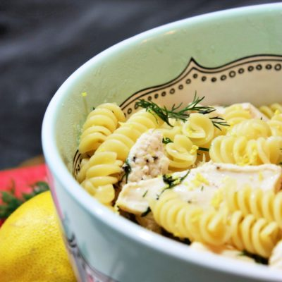 Easy One Pot Greek Chicken Pasta