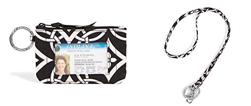 Vera Bradley Zip Id Case and Lanyard
