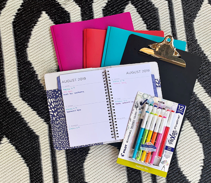 Colorful Pens for Keeping an Organized Calendar
