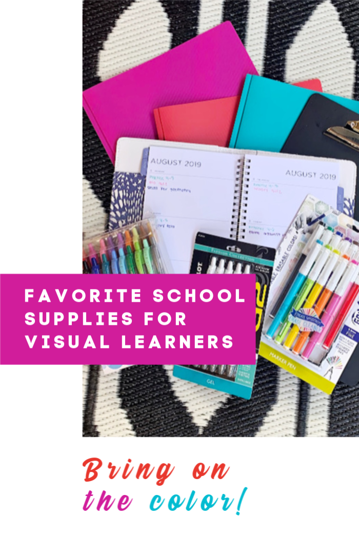 Favorite School Supplies for Visual Learners