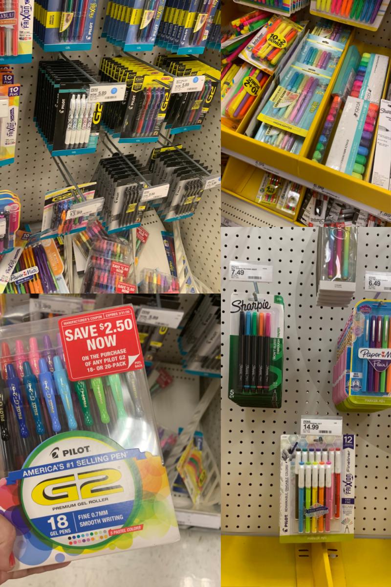 Pilot Pens at Target