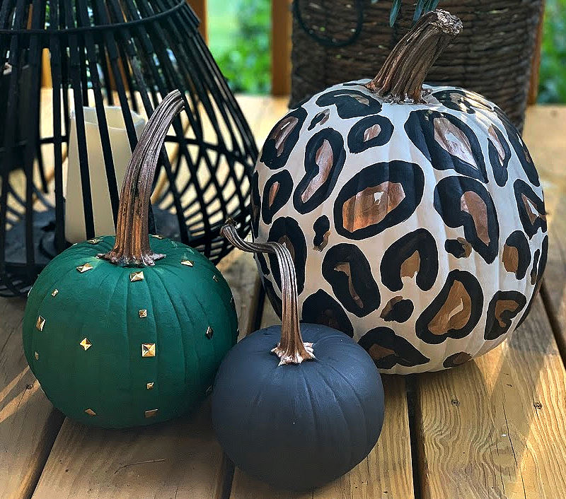 DIY Leopard Pumpkin | Easy Pumpkin Painting Ideas that absolutely anyone can do. No painting skills required!